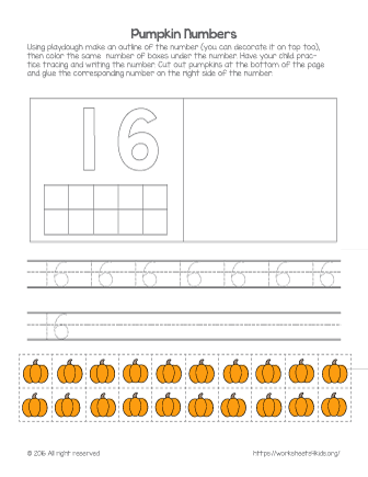 Kindergarten Math Worksheet -